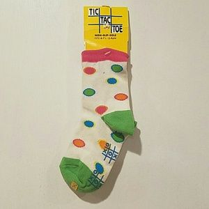 Tic Tac Toe Girls Ankle Socks Size 6 - 7.5 NWT